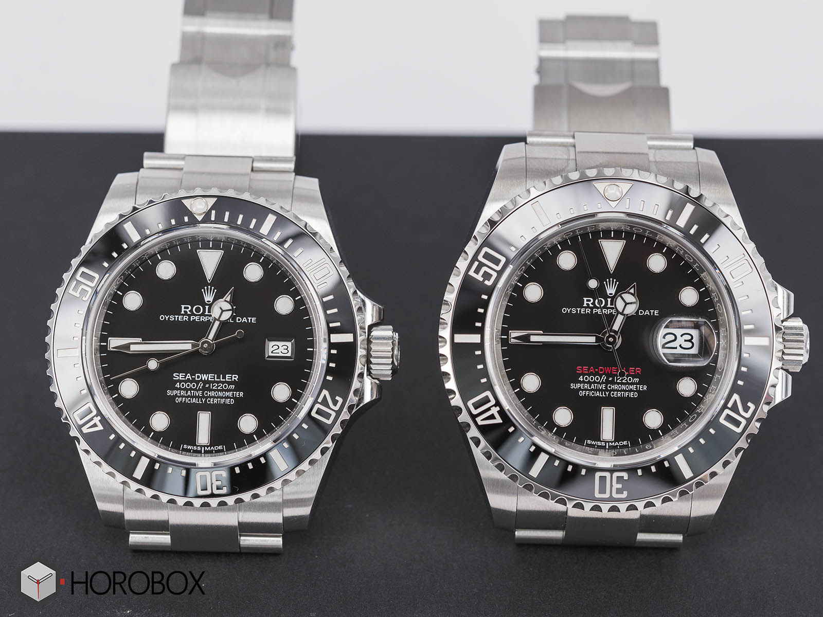 126600 116600 seadweller 50th anniversary rolex comparison. Black Bedroom Furniture Sets. Home Design Ideas