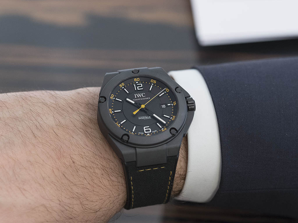 hands on new iwc ingenieur amg gt boron carbide. Black Bedroom Furniture Sets. Home Design Ideas