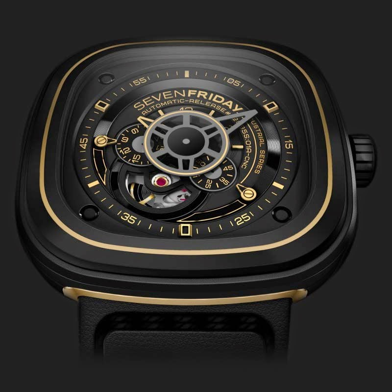 Harga SevenFriday Jam Tangan PB1 B1 Automatic Miyota Hitam Source · Jam tangan Pria Casual Leather