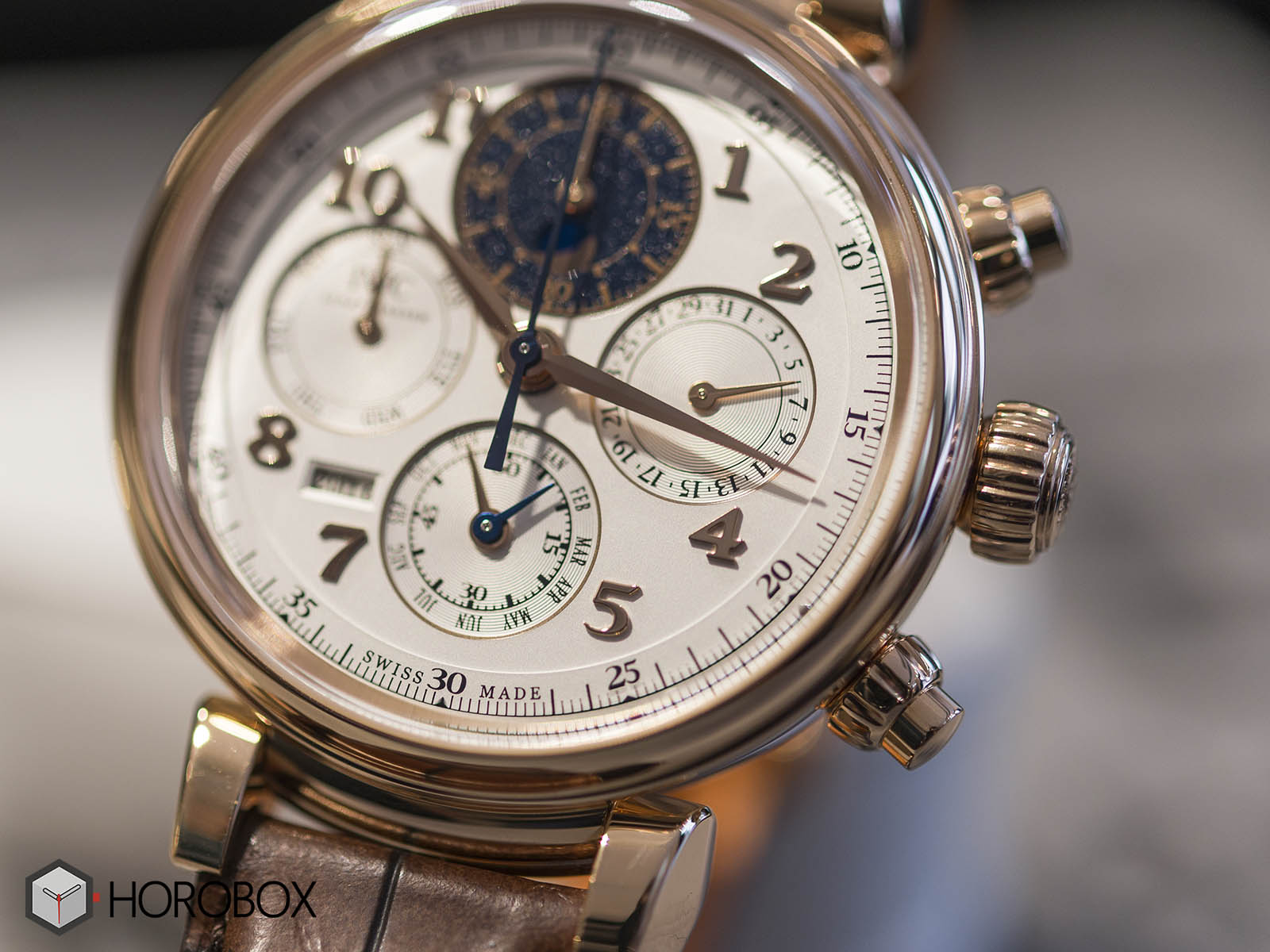 Perpetual Calendar Chronograph : Iw iwc da vinci perpetual calendar chronograph