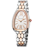 Serpenti Seduttori Steel and Rose Gold with Diamonds