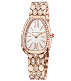 Serpenti Seduttori Rose Gold Semi Paved Bracelet