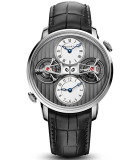 Double Tourbillon Escapement 18K White Gold