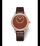 Petite Heure Minute 35mm Sunstone Diamonds Red Gold