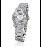 Happy Sport 30mm Automatic Pave White Gold