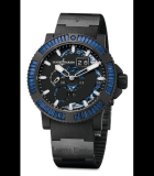 Marine Perpetual Blue Sapphires Steel with Vulcanized Black Rubber