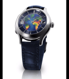 Galet Traveller Enamel World White Gold