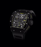 RM 011 Flyback Chronograph Yellow Flash TZP Black Ceramic and NTPT Carbon