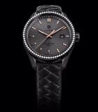 Carrera Cara Delevingne 41mm Diamonds Black Titanium Carbide-Coated Steel