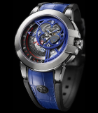 Retrograde Dual Time Only Watch 2015 White Gold
