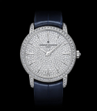 Patrimony Traditionnelle Lady Small Model Pave White Gold