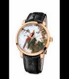 Classico Pheasants and Flowers Rose Gold