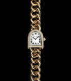 Stirrup Petite Link Diamonds Rose Gold