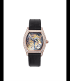 Tortue XL Panther Stone Mosaic Diamonds Pink Gold